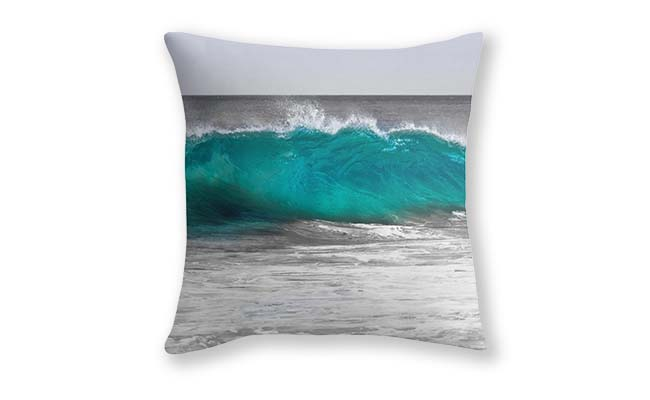 Aqua Wave,Bunker Bay,Margaret River Cushion Cover design by Dave Catley, Fine Art Photographer available in our MADAboutWA Store.