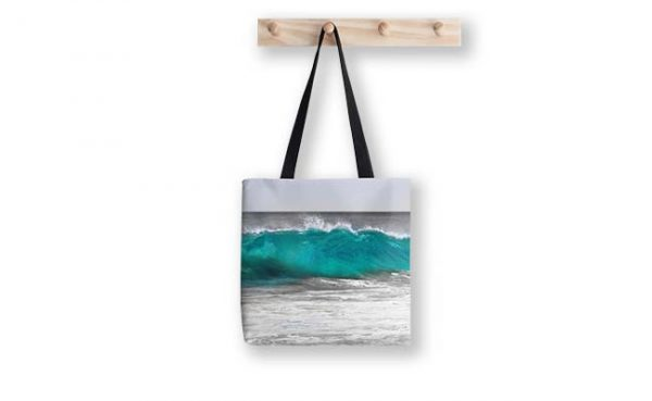 Aqua Wave,Bunker Bay,Margaret River Tote Bag design by Dave Catley, Fine Art Photographer available in our MADAboutWA Store.