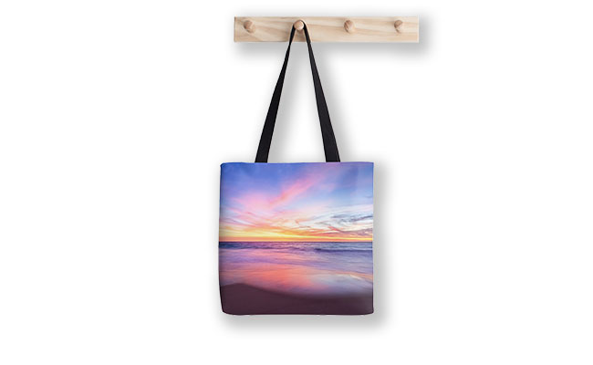 Aussie Sunset, Claytons Beach Tote Bag designed by Dave Catley, Fine Art Photographer, available from our MADAboutWA Store.
