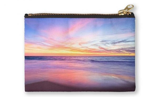Aussie Sunset, Claytons Beach Studio Pouch design by Dave Catley featuring a typical Aussie Sunset, Claytons Beach, Mindarie available from our MADAboutWA store.