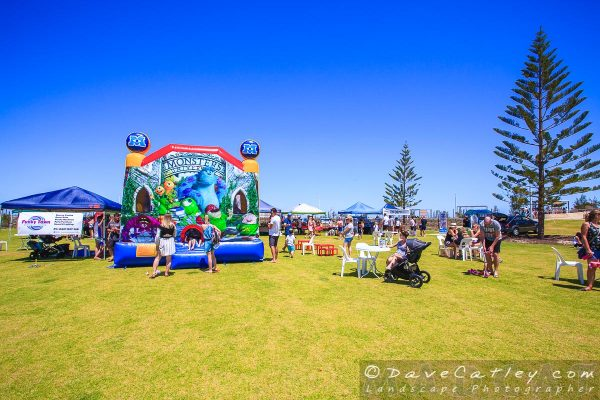 Bouncy Castle at Eden Beach Farmers Market, Jindalee