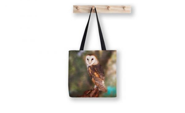 Chips the Barn Owl Tote Bag, designed by Dave Catley Fine Art Photographer
