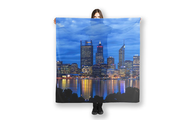 City Blues, South Perth, Perth Scarf design by Dave Catley Fine Art Photographer available in our MADAboutWA store.
