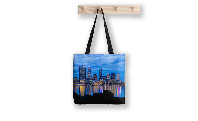 City Blues, South Perth Tote Bag designed by Dave Catley, Fine Art Photographer, available in our MADAboutWA Store.