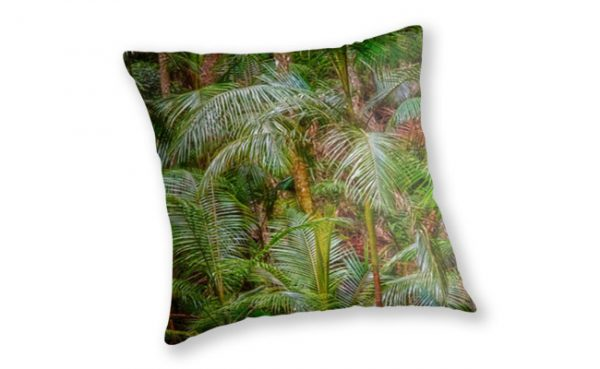 Deep In The Forest Throw Pillow design by Dave Catley featuring a Rainforest in Tamoborine Mountain on The Gold Coast available from our MADCAT.RedBubble.com store.
