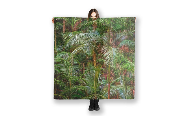 Deep in the Forest Tamborine Mountain MAD About WA inspired Rainforest Scarf designed by Dave Catley and available for purchase at our MADAboutWA Store