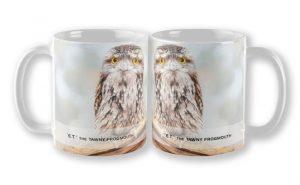 ET Wide Awake, Native Animal Rescue Mug featuring E.T. Wide Awake, Native Animal Rescue available from our MADCAT.RedBubble.com store.