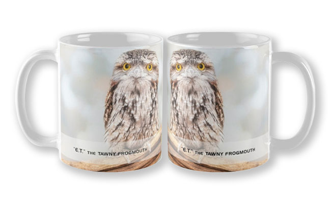 ET Wide Awake, Native Animal Rescue Mug featuring E.T. Wide Awake, Native Animal Rescue available from our MADAboutWA store.