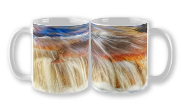 Ebb and Flow, Noble Falls Mug design by Dave Catley featuring Noble Falls winter water flow available from our MADCAT.RedBubble.com store.