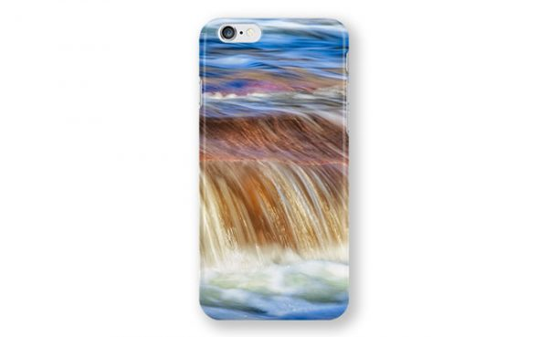 Ebb and Flow, Noble Falls iPhone Case design by Dave Catley featuring Noble Falls winter water flow available from our MADCAT.RedBubble.com store.