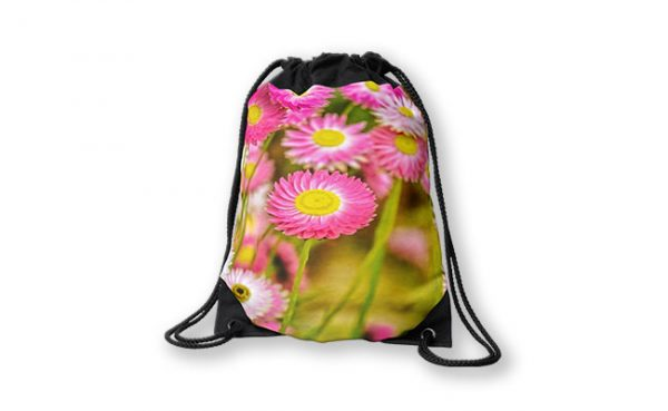 Everlasting Daisies, Kings Park Drawstring Bag design by Dave Catley featuring Kings Park wildflowers namely everlasting daisies available from our MADCAT.RedBubble.com store.