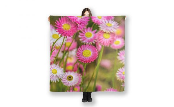 Everlasting Daisies found in Kings Park. Perth printed on a scarf