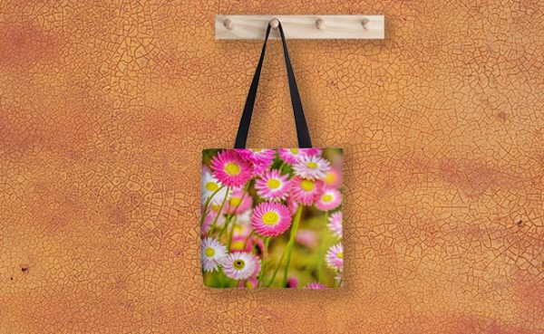 Everlasting Daisies, Kings Park Tote Bag designed by Dave Catley, Fine Art Photographer, available from our MADAboutWA Store.