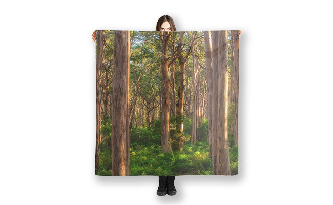 Forest Twilight, Boranup Forest, Margaret River Scarf design by Dave Catley, Fine Art Photographer, Available in out MADAboutWA Store.