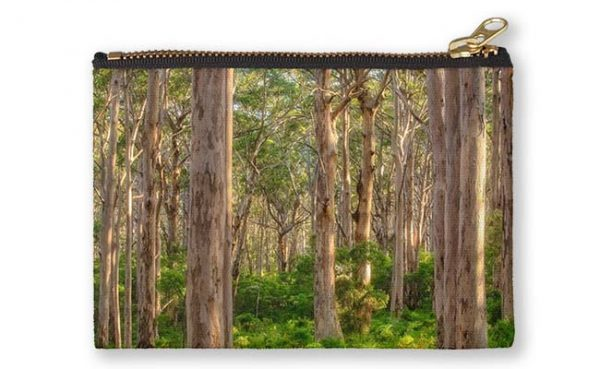 Forest Twilight, Boranup Forest Studio Pouch design by Dave Catley featuring the Karri Trees of Boranup Forest, Margaret River available from our MADCAT.RedBubble.com store.