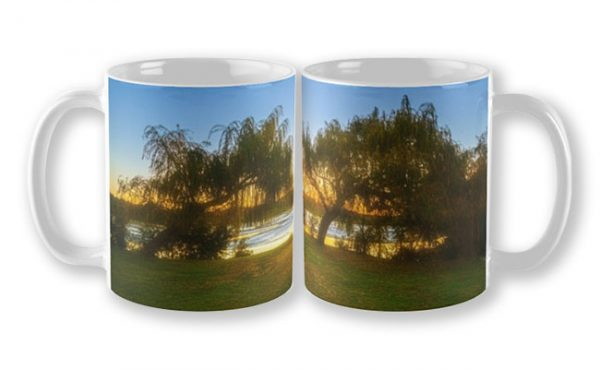 Golden Lake, Yanchep National Park Mug design by Dave Catley featuring Sunset over Wagardu Lake, YNP available from our MADAboutWA store.