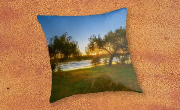 Golden Lake, Yanchep National Park Throw Pillow design by Dave Catley featuring Sunset over Wagardu Lake, YNP available from our MADCAT.RedBubble.com store.