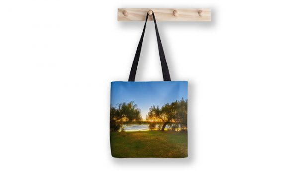 Golden Lake, Yanchep National Park Tote Bag design by Dave Catley featuring Sunset over Wagardu Lake, YNP available from our MADCAT.RedBubble.com store.