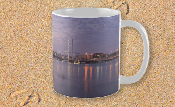 Harbour Lights, Hillarys Boat Harbour Mug design by Dave Catley featuring Harbour Lights at Sunset, Hillarys Boat Harbour available from our MADAboutWA store.