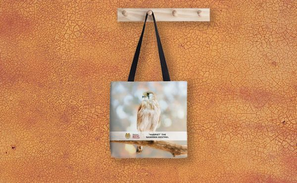 Harriet the Nankeen Kestrel, Native Animal Rescue Tote Bag featuring Harriet the Nankeen Kestrel, Native Animal Rescue available from our MADCAT.RedBubble.com store.