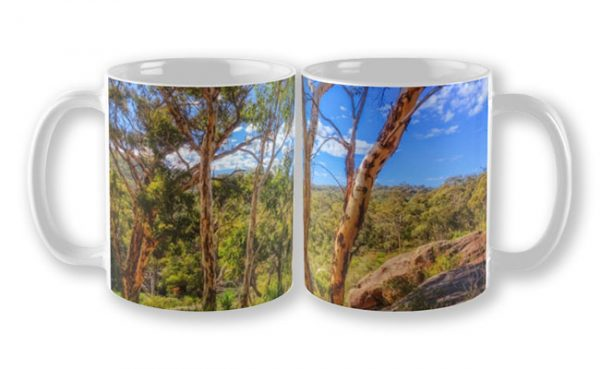 Heritage View, John Forest National Park Mug design by Dave Catley featuring View from the old railway line walk trail in John Forest National Park available from our MADAboutWA store.
