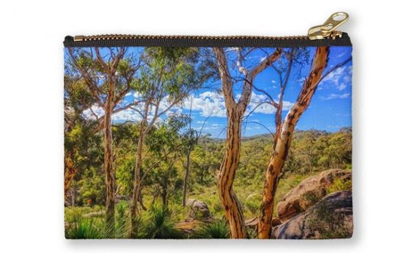Heritage View, John Forest National Park Studio Pouch design by Dave Catley featuring View from the old railway line walk trail in John Forest National Park available from our MADAboutWA store.