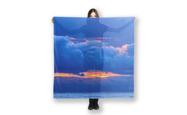 Hidden Fires Indian Ocean Perth Scarf design by Dave Catley Fine Art Photographer,available in our MADAboutWA Store.