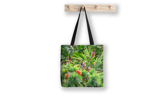 Honey Eater Bushy Lakes Margaret River Tote Bag designed by Dave Catley, Fine Art Photographer, available in our MADAboutWA Store.