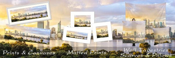 Prints & Photo Gifts of Perth City Skyline, Western Australia