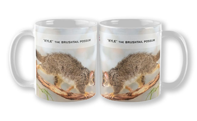 Kyle the Brushtail Possum, Native Animal Rescue Mug featuring Kyle the Brushtail Possum, Native Animal Rescue available from our MADAboutWA store.