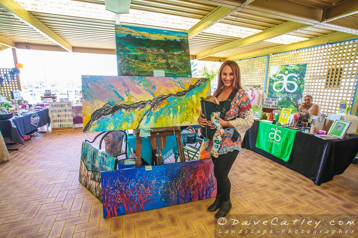 Local Artist Alicia Liron, Yanchep Monthly Markets, Wanneroo, Western Australia