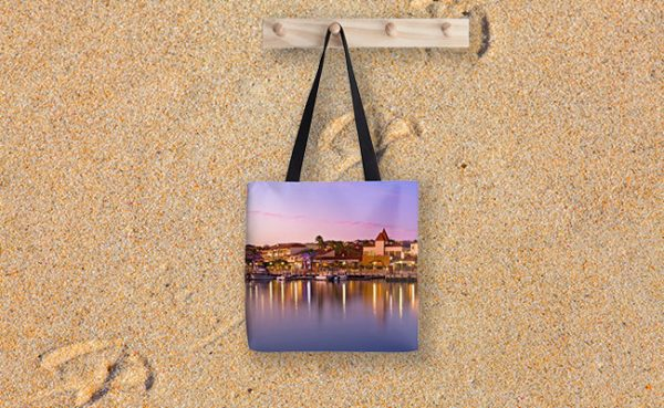 Marina Sunset, Mindarie Marina Tote Bag designed by Dave Catley, Fine Art Photographer, available from our MADAboutWA Store.