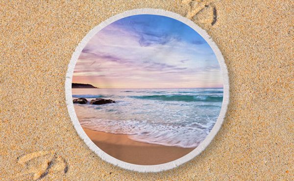 Moonscape, Bunker Bay, Margaret River - Round Beach Towel
