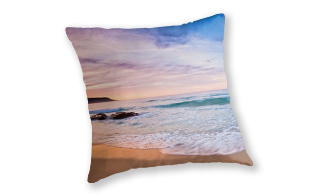 Moonscape, Bunker Bay Throw Pillow design by Dave Catley featuring sunset walk on the Bunker Bay Beach available from our MADCAT.RedBubble.com store.