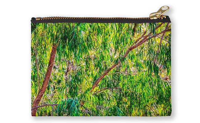 Natures Greens, Yanchep National Park Studio Pouch design by Dave Catley featuring Winter colours in the Yanchep National Park available from our MADAboutWA store.