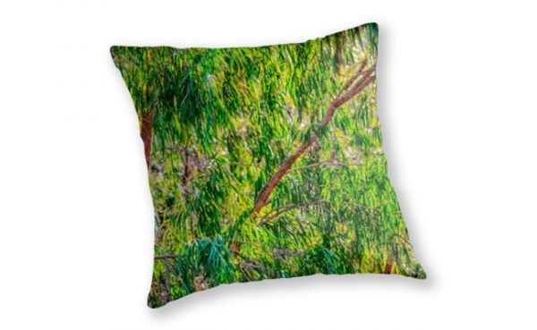 Natures Greens, Yanchep National Park Throw Pillow design by Dave Catley featuring Winter colours in the Yanchep National Park available from our MADCAT.RedBubble.com store.
