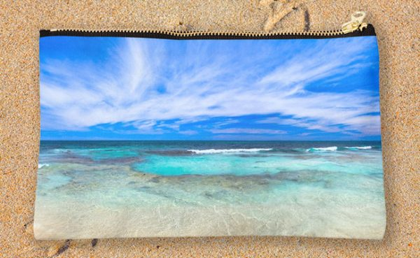 Ocean Tranquility, Yanchep Studio Pouch design by Dave Catley featuring Ocean Tranquility near the Spot at Yanchep available from our MADAboutWA store.