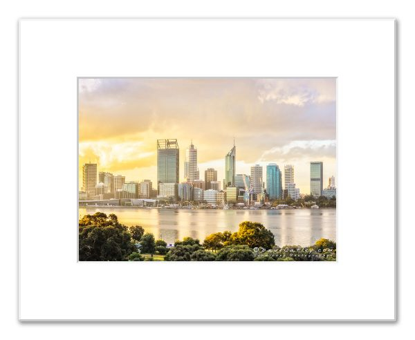 One of our latest Perth City Skyline images, Perth Afternoon City Glow, that found a new home on Sunday