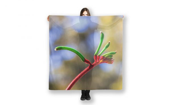 Red and Green Kangaroo Paw, Kings Park Scarf featuring Red and Green Kangaroo Paw, Kings Park available from our MADAboutWA store.
