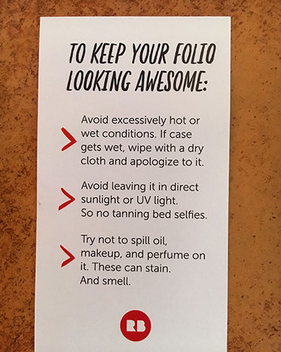 RedBubble iPhone Wallet Care Instructions