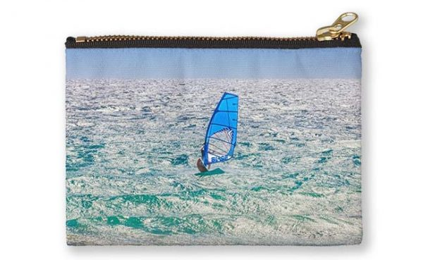 Ride the Waves, Scarborough Beach Studio Pouch design by Dave Catley featuring Wind surfing the waves, Scarborough available from our MADAboutWA store.