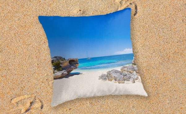 Rotto Paradise, Little Parakeet Bay, Rottnest Island Throw Pillow featuring Rotto Paradise, Little Parakeet Bay, Rottnest Island available from our MADCAT.RedBubble.com store.