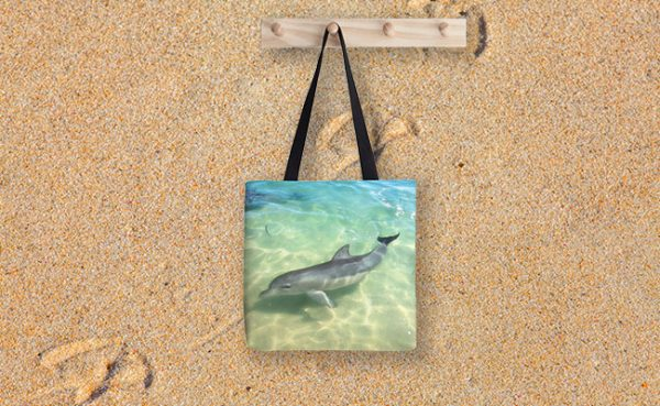 Samu 1 , Monkey Mia, Shark Bay Tote Bag designed by Dave Catley, Fine Art Photographer, available from our MADAboutWA Store.