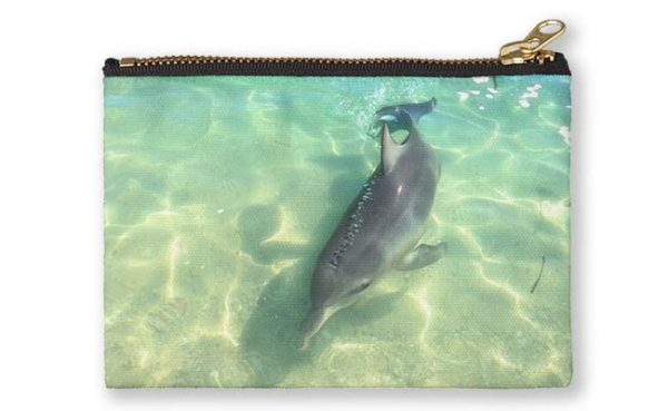 Samu 2 , Monkey Mia, Shark Bay Studio Pouch design by Dave Catley featuring Dolphin, Samu , Monkey Mia, Shark Bay available from our MADAboutWA store.