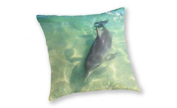 Samu 2 , Monkey Mia, Shark Bay Throw Pillow design by Dave Catley featuring Dolphin, Samu , Monkey Mia, Shark Bay available from our MADCAT.RedBubble.com store.