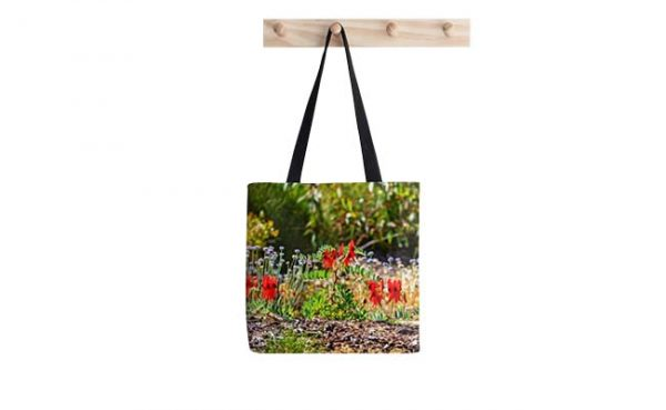 Sturt's Desert Pea, Kings Park, Perth Tote Bag designed by Dave Catley, Fine Art Photographer, available in our MADAboutWA Store now.