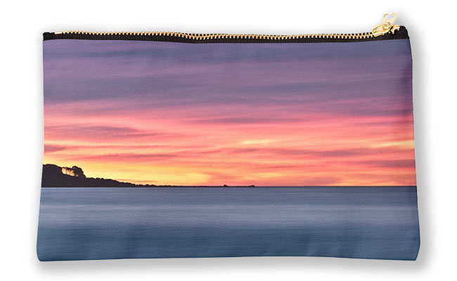 Sunset Peninsular, Bunker Bay Studio Pouch design by Dave Catley featuring the Bunker Bay peninsular at sunset available from our MADAboutWA store.