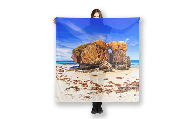 The Sentry, Two Rocks Scarf designed by Dave Catley, Fine Art Photographer, available in our MADAboutWA Store.