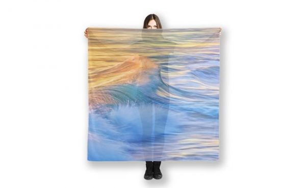 Waves In Motion Scarf designed by Dave Catley Fine Art Photographer, available in our MADAboutWA Store.